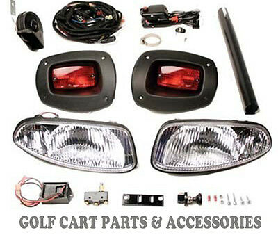 EZGO RXV Golf Cart Headlight & Tail light Kit Deluxe Street Package Gas and Elec