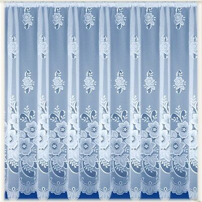 Heavy White Lace Voile Net Curtain New York - LOW PRICES