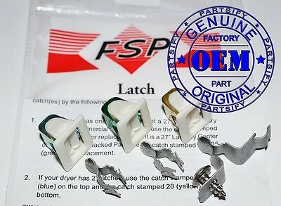 New Genuine Oem Part We1M1011 We1X1192 We1M536 Fits Ge Hotpoint Dryer Door Latch