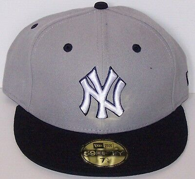 NEW ERA NEW YORK YANKEES CAP TWO-TONE 7-1/4 57.7cm 59FIFTY GREY NAVY  NY 5950