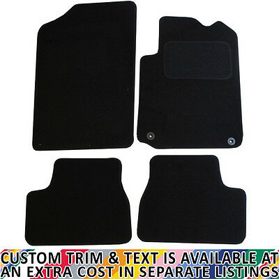 Citroen DS3 Fully Tailored 4 Piece Black Car Mat Set with 2 Clips