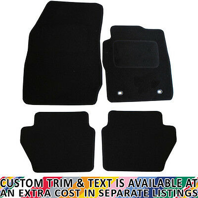 Ford Fiesta MK7 2009 - 2011 Fully Tailored 4 Piece Car Mat Set with 2 Oval Clips