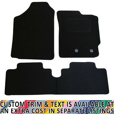 Toyota Yaris MK II 2006-2011 Fully Tailored 3 Piece Car Mat Set with 2 Clips