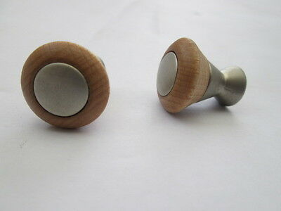 10 X Beech Wooden Decorative Cupboard Cabinet Drawer Furniture Knobs Handles
