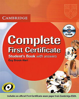 Cambridge COMPLETE FIRST CERTIFICATE FCE Student's Book w Anwers & CD-ROM @NEW@