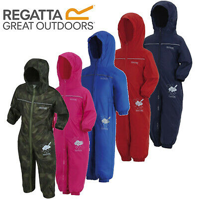 b884b70a708b REGATTA PUDDLE RAIN Suit Waterproof All In One Childrens Kids Childs ...