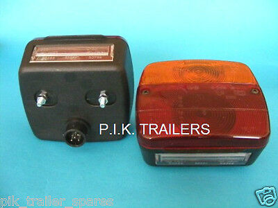 2 x AJBA 4 Way Lamps with 'Quick-Fit' Socket FP11 - Daxara & Erde Trailer