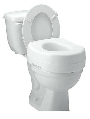 Raised Toilet Seat Elevated Carex Elevator Standard Elongated Safety B302CO NEW