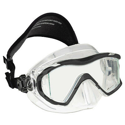 Oceanic Ion 3X Panoramic View Scuba Diving Mask with Neoprene Strap Black/Clear