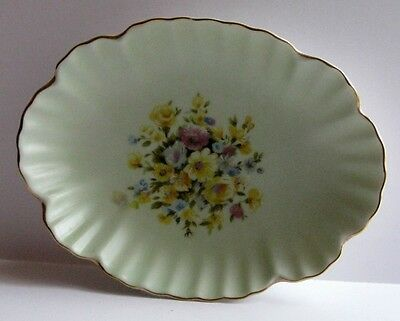 Lefton China Hand Painted Floral Candy Dish Made in Japan Original Label Gold
