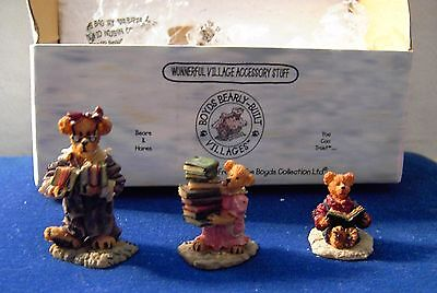 Boyds Bearly Built Villages The Public Libeary Accessories Style 19506-1 Griz ++