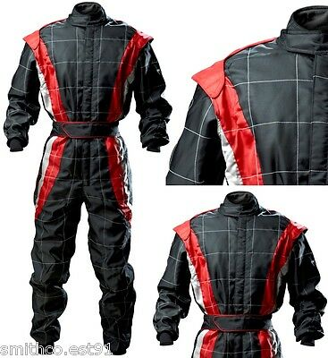 CIK Level 2 Pro KART Suit BLACK / RED / GREY All ADULT Sizes