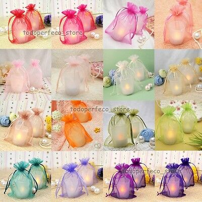 17 Colours & 5 Sizes! Premium ORGANZA Wedding Favor GIFT BAGS Jewellery Pouches