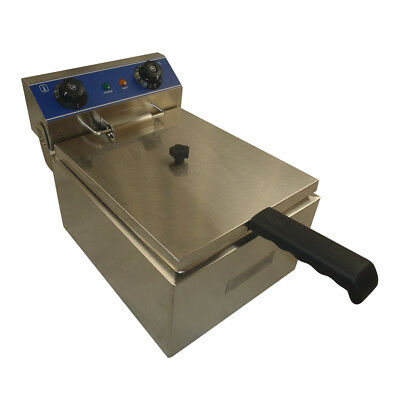 Brand New Commercial 10L Single Electric Deep Fryer 201 Stainless Steel Benchtop