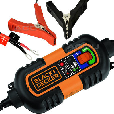 Black & Decker 6v 12v Car Bike Boat Caravan Automatic Trickle Battery Charger
