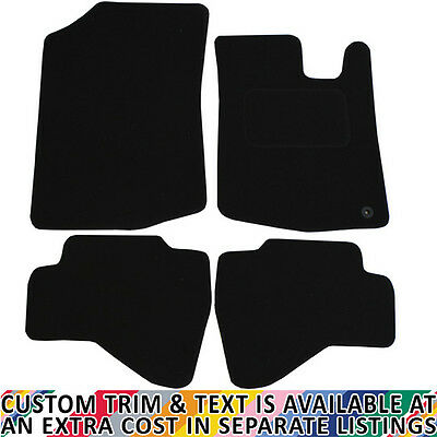 Peugeot 107 Fully Tailored 4 Piece Black Car Mat Set with 1 Clip