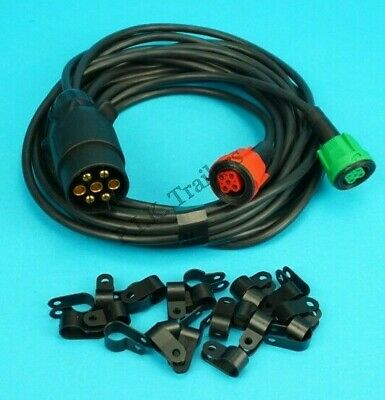 6 metre Pre-wired Harness Wiring Loom for Radex Plug In Trailer Lamps 2900 6800