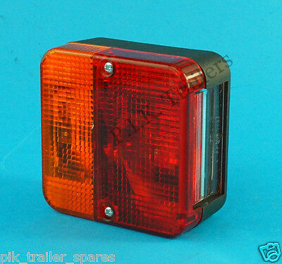Perei 4 Way Rear Light Cluster Surface Mount for Trailers & Caravans