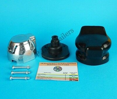 Metal 7 Pin 12N Socket & Gasket Seal with Socket Cover for towing trailer