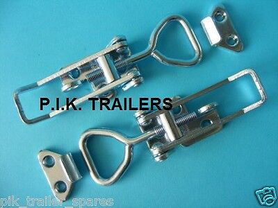 FREE P&P* 2 x LARGE Lockable OJOP Over Centre Catch Fastener & Plate Trailers