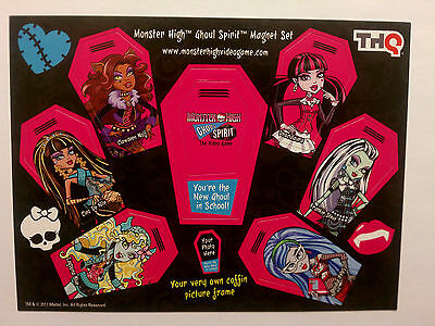 Monster High Ghoul Spirit Magnet Set (SDCC Exclusive 2012) MINT Condition!