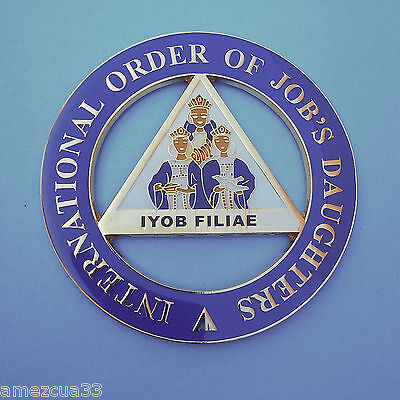 International Order Of Job's Daughters Alloy Zinc Cut Out Car Emblem
