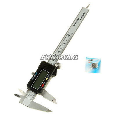 6 Inch 150mm Stainless Steel Electronic Digital Vernier Caliper Gauge Micrometer