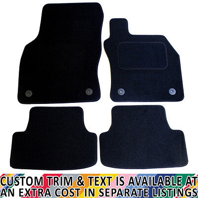 Seat Leon MK III 2013+ Fully Tailored 4 Piece Black Car Mat Set with 4 Clips