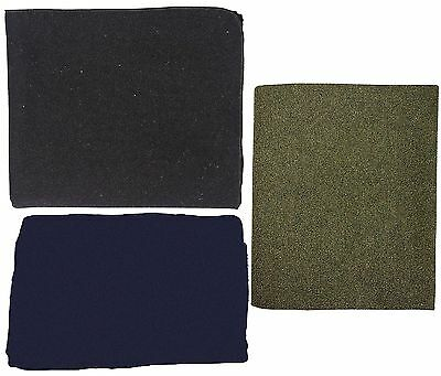 70% Virgin Wool Blankets - Navy Blue, Grey, or Olive Drab - Great For Any Room