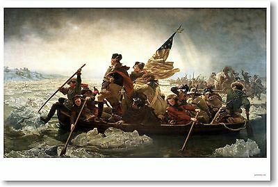 George Washington Crossing The Delaware - NEW Fine Arts Poster