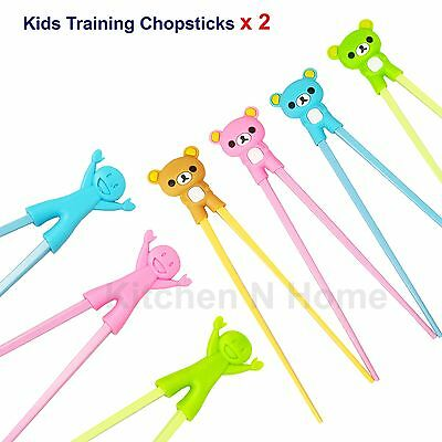 2 Pairs of Kids chopsticks, Learning Training Chopsticks, Assorted Colours