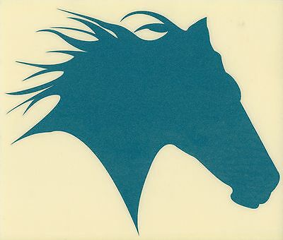 Mustang Horse Decal  Western Cowgirl for Trailer Truck Laptop Sm Teal Glitter