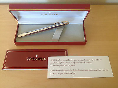Used - Promotional Pen SHEAFFER - Acero Steel - With Box & Papers - Usado
