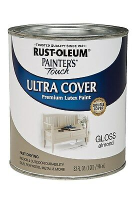 New Rust-Oleum 1994502 Painters Touch Quart Latex, Gloss Almond