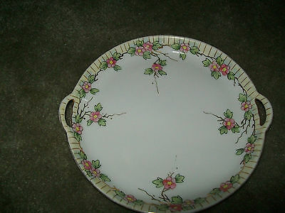 NIPPON DISH /TRAY FLORAL DESIGN GOLD TRIM