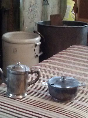 wear-brite silver creamer and sugar bowl
