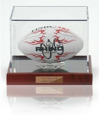 Chris Ashton Hand Signed Mini Rugby Ball AFTAL photo proof COA England