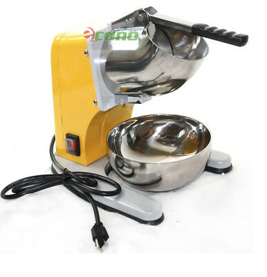 Electric Ice Shaver 220lb/h Dual Stainless Blade Snow Cone Maker Machine Crusher