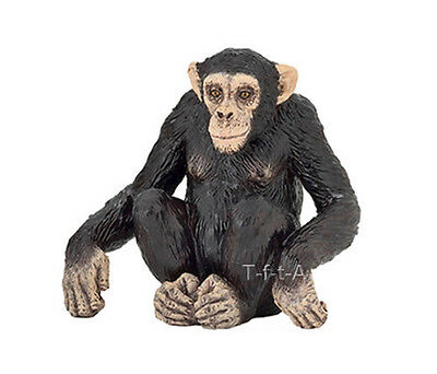 FREE SHIPPING | Papo 50106 Chimpanzee Adult Wild Animal Replica- New in Package