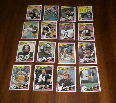 1984 PITTSBURGH STEELERS TOPPS TEAM SET - 15 CARDS