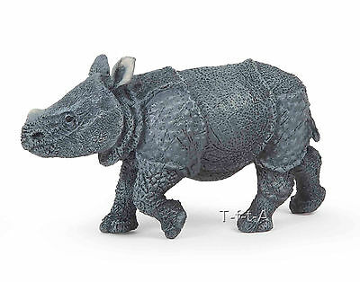 FREE SHIPPING | Papo 50148 Indian Rhinoceros Calf Model Replica- New in Package