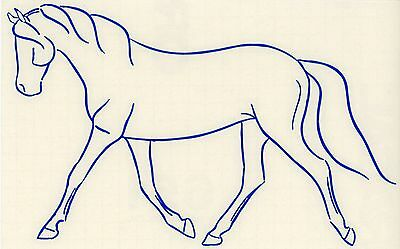 Med Blue Horse Decal Western Rodeo Cowboy Equine Truck Window Trailer Sticker