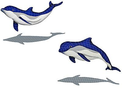 Mosaic Bottlenose Dolphins for Swimming Pool or Wall - Large - Free Shipping
