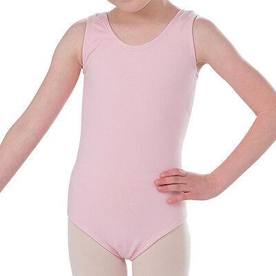 Leotard Pink Tank Style Dance Gymnastics Ballet Tap Child Sizes XS, Small, Med
