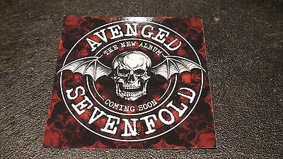 AVENGED SEVENFOLD Promo Sticker (Square) New Album Coming Soon