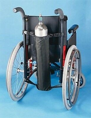 Oxygen Tank Holder for Wheelchair Black Nylon Fits D and E Tanks #706201000 SALE