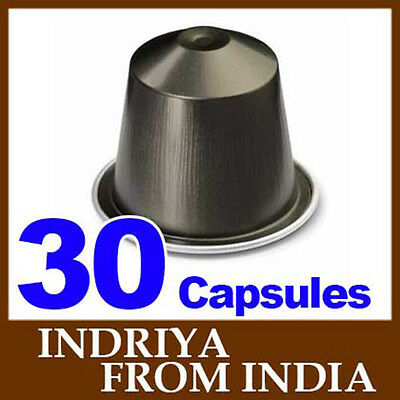 30 Nespresso INDRIYA FROM INDIA Coffee Capsules *NEW SEALED FRESH*