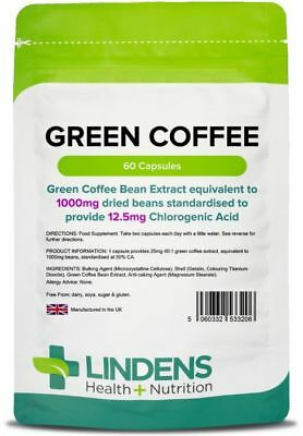 Green Coffee 1000mg - fat burner, weight loss, diet pills (60 capsules) [3206]