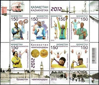 Kazakhstan - 2013 - Olympic Champions of London, m/s of 7v