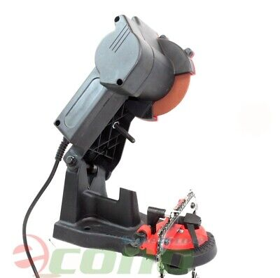ELECTRIC CHAINSAW GRINDER CHAIN SAW SHARPENER BENCH VISE Mount W/Grinding Wheel